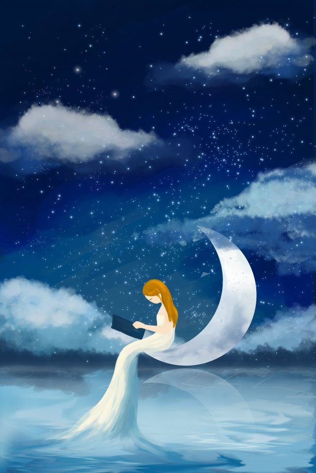 beautiful dream romantic starry sky creative starry sky llustration image illustration image