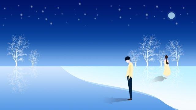beautiful romantic ocean sea, Night, Starry Sky, Moon illustration image
