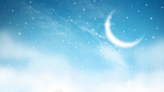beautiful starry sky blue background, Illustration, Meniscus, Crescent illustration image