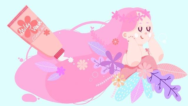 뷰티 메이크업 스킨 케어 뷰티 스킨 삽화 소재