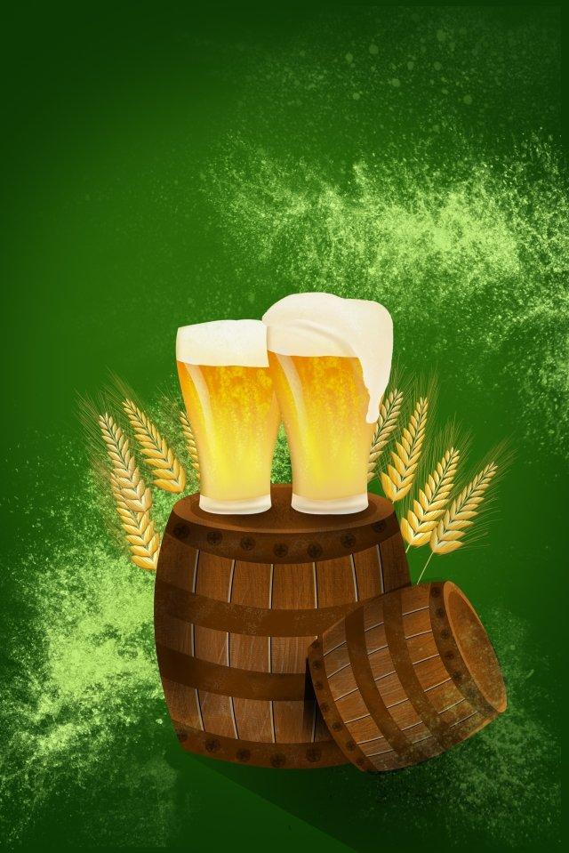 ビールビール祭りビールポスターポスター イラストレーション画像