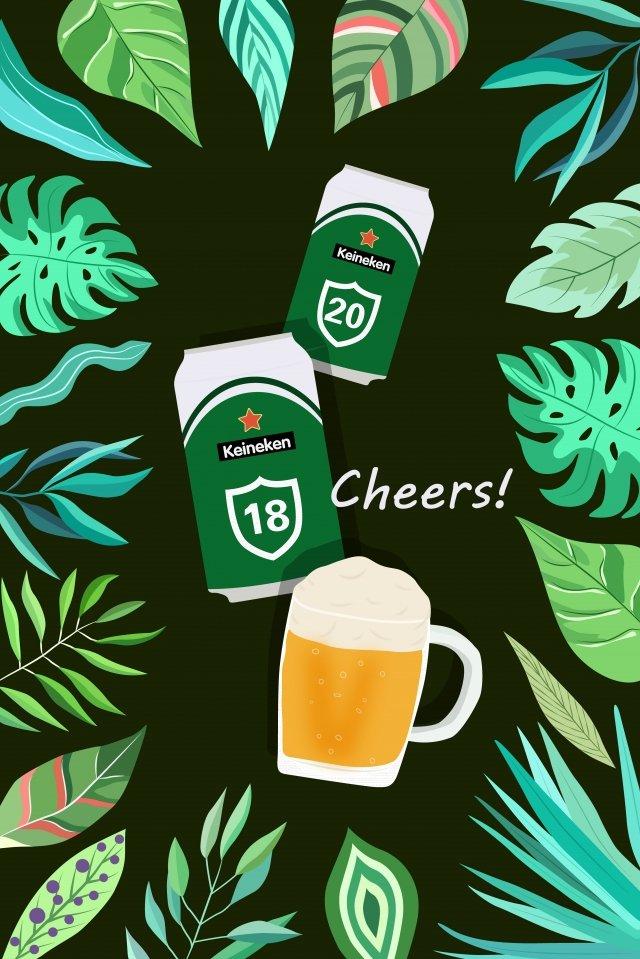 ビールビール祭り缶ワイングラス イラストレーション画像