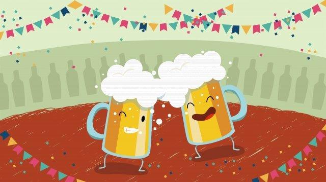 ビール祭りビール喜びを祝う イラストレーション画像