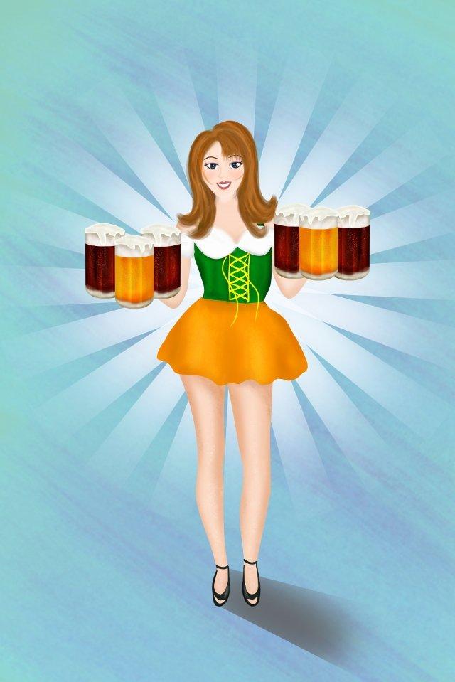 ビール祭りビール濃いビール大麦ビール イラストレーション画像 イラスト画像