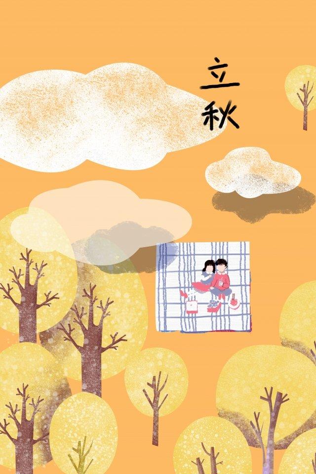 가을의 시작 가을의 날 가을의 가을 삽화 소재