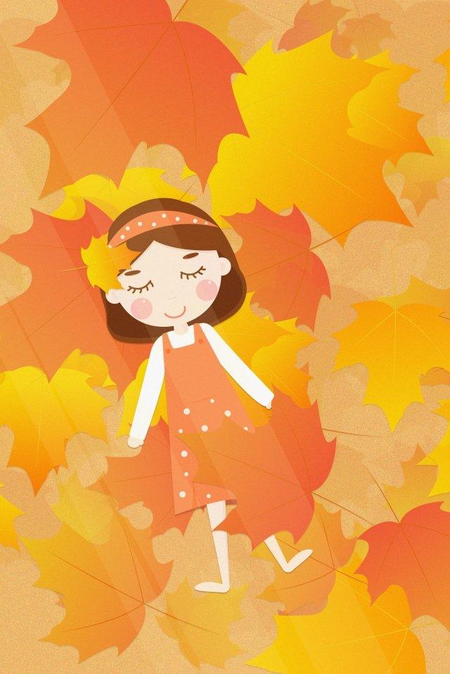秋季秋季節氣開始二十四節氣 插畫圖片