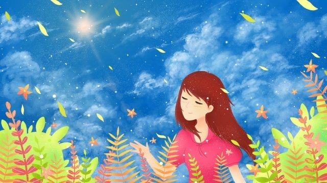 가을 가을의 가을 가을의 시작 삽화 소재 삽화 이미지