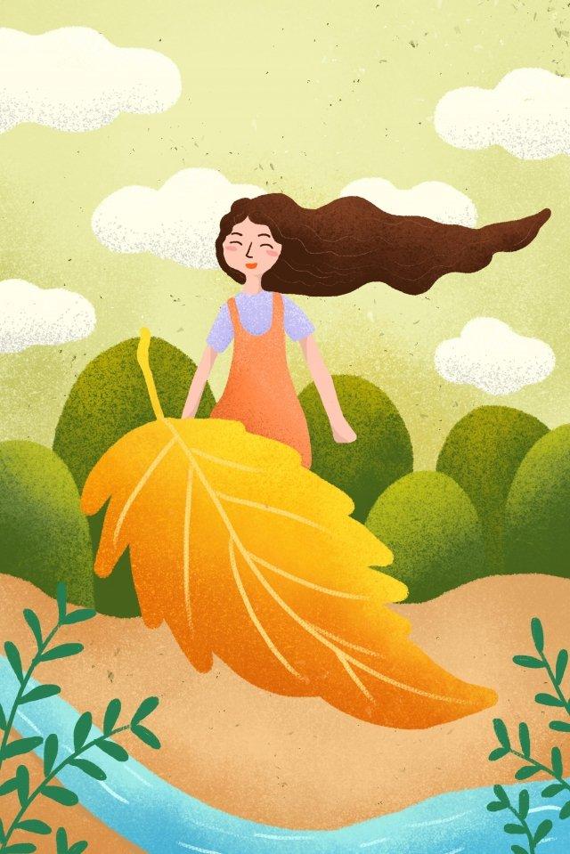 Lễ hội mùa thu mùa thu minh họa Li Qiu Mùa thu MùaTrời  Nền  Hai PNG Và PSD illustration image