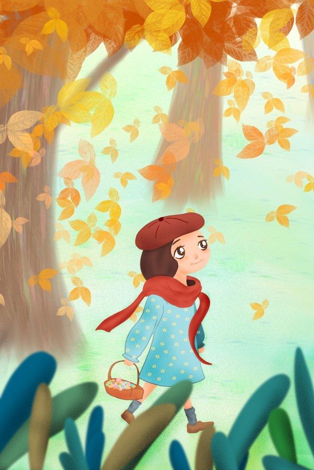 bắt đầu mùa thu mùa thu lá rụngLá  Phong  Cô PNG Và PSD illustration image