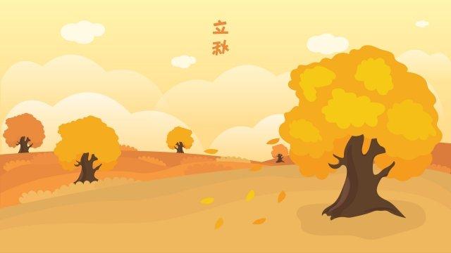 가을 가을 금 수확의 시작 삽화 소재