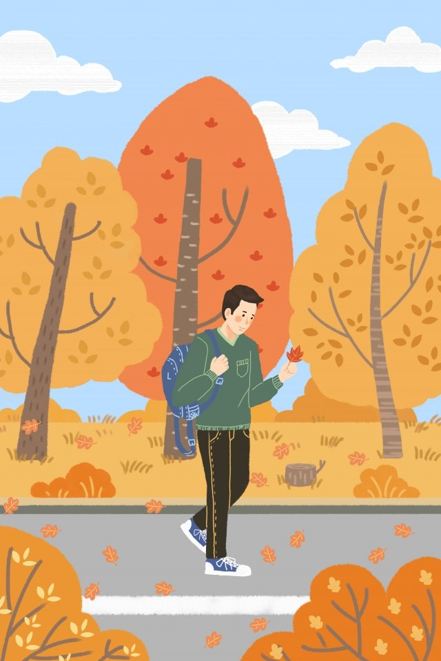 beginning of autumn fall yellow yellow llustration image illustration image