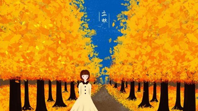 bắt đầu mùa thu minh họa bàn tay tinh khiết vẽ ginkgo biloba Hình minh họa Hình minh họa