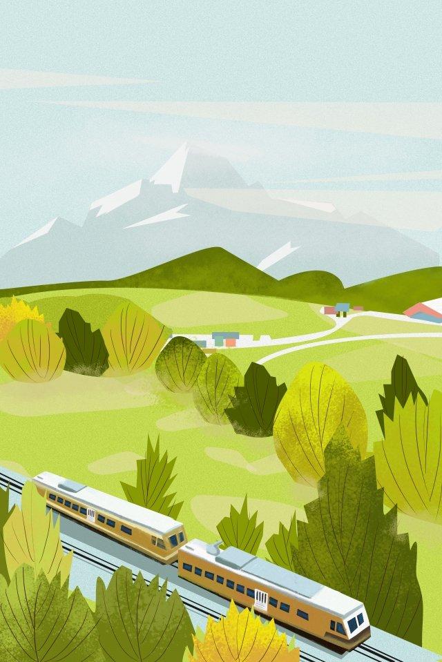 春の治癒距離風景の始まり イラスト画像