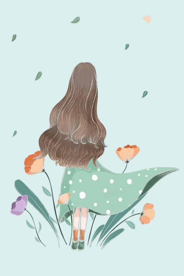 春の始まり新鮮な治療法の小さな女の子 イラスト画像