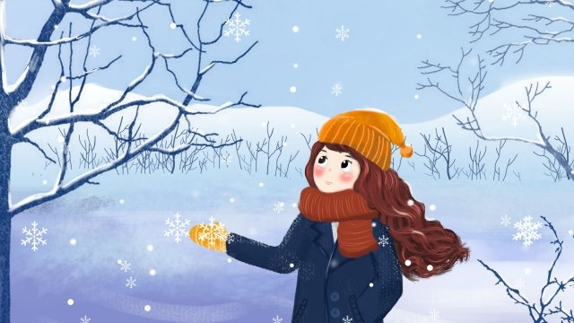 beginning of winter light snow heavy snow illustration llustration image illustration image