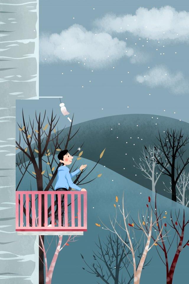 冬の始まりソーラー用語24ソーラー用語寒い イラスト素材