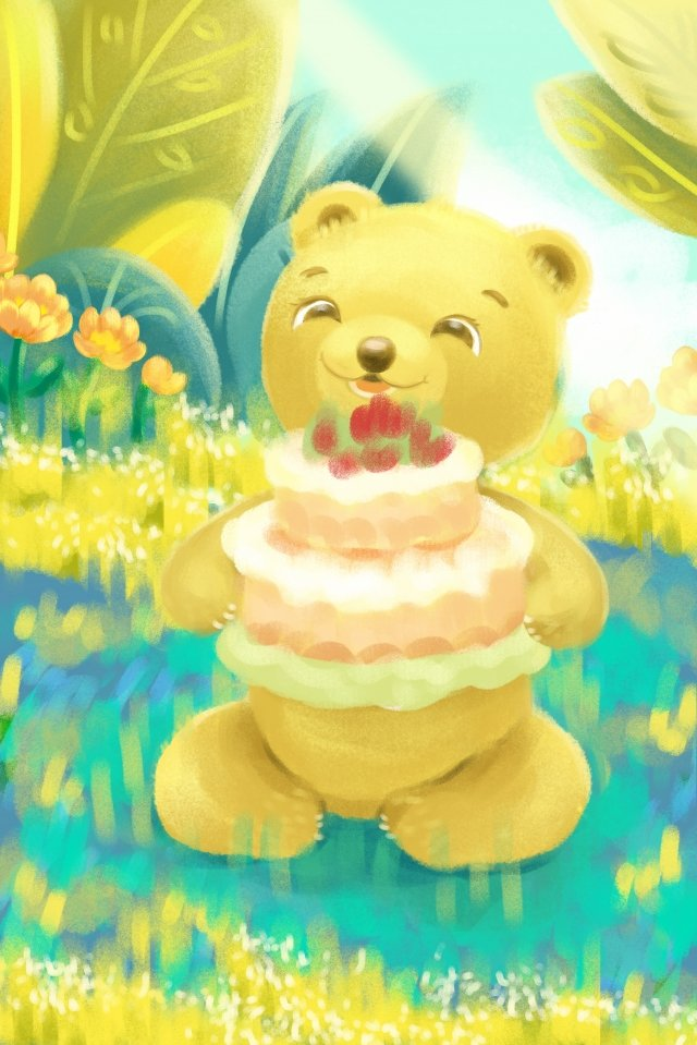 誕生日おめでとうグリーティングカード イラストレーション画像 イラスト画像