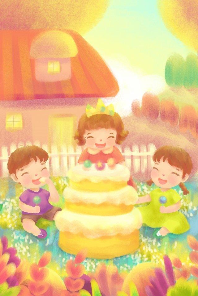 生日聚會派對祝福 插畫素材