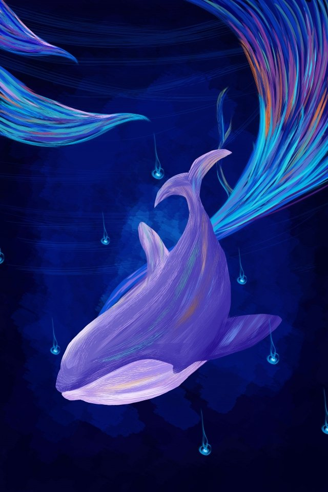 paus biru ungu yang cantik imej keterlaluan