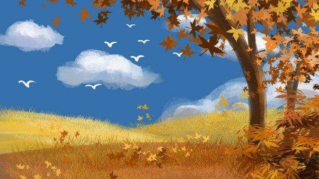 bầu trời xanh mây trắng ngỗng mùa thu Hình minh họa Hình minh họa