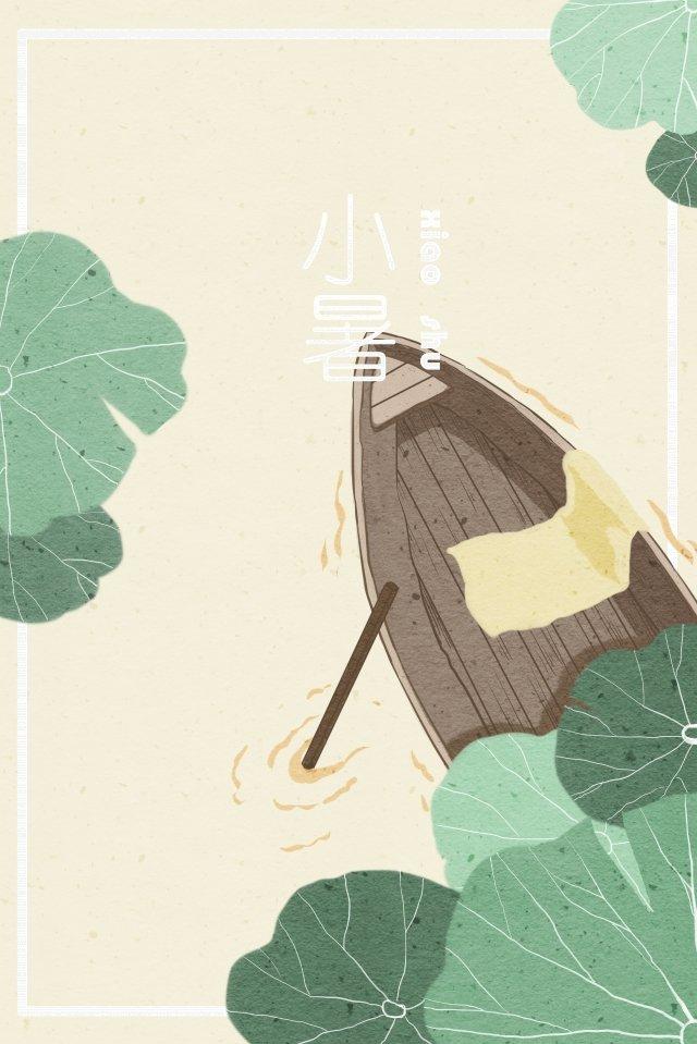 नाव कमल के पत्ते की बनावट चित्रण छवि