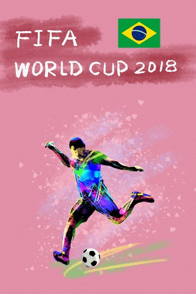 ブラジルサッカーワールドカップ2018 イラスト画像