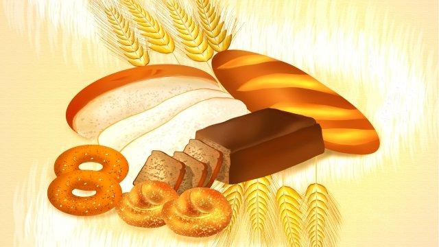 bread food dessert doughnut llustration image