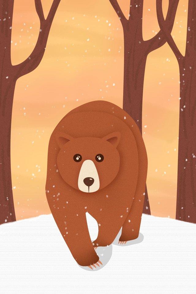 Nacional selvagem protegida ilustração de urso pardo de animais Urso pardo Bear Animal Animais selvagens AnimalNacional  Protegido  Urso PNG E PSD illustration image
