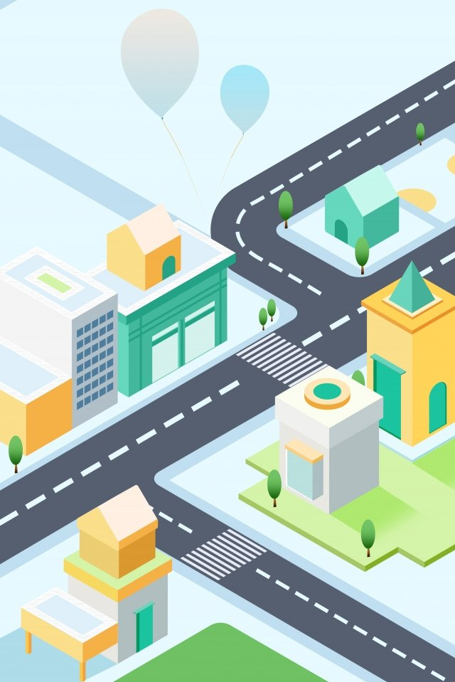 building scenery city street illustration image