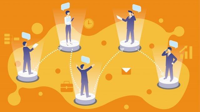 ビジネスコミュニケーション情報 イラストレーション画像 イラスト画像