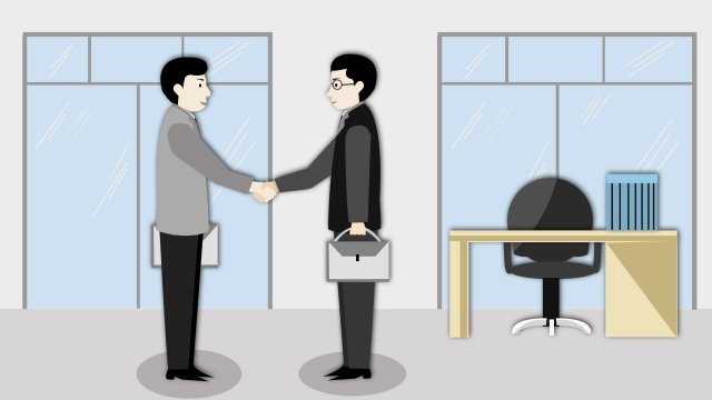 business concise cooperation handshake, Office, Gray, Man illustration image