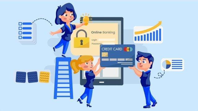 бизнес финансы синий онлайн технологии мобильный телефон Ресурсы иллюстрации Иллюстрация изображения