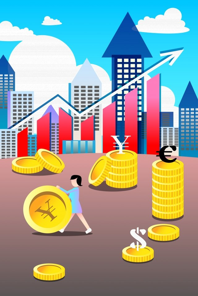 business financial background material, Illustration, Gold, Currency illustration image