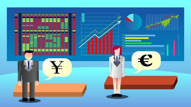 ビジネス金融株式投資 イラスト素材
