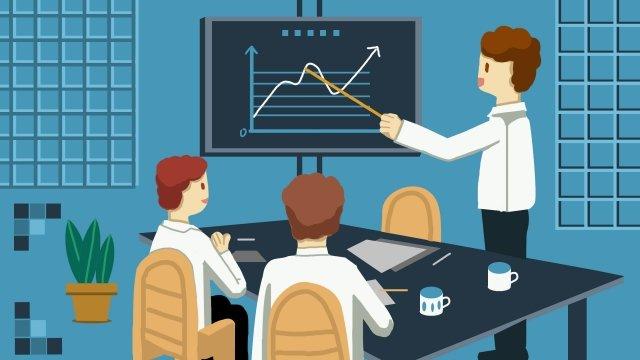 ビジネス金融資産の増加 イラスト素材
