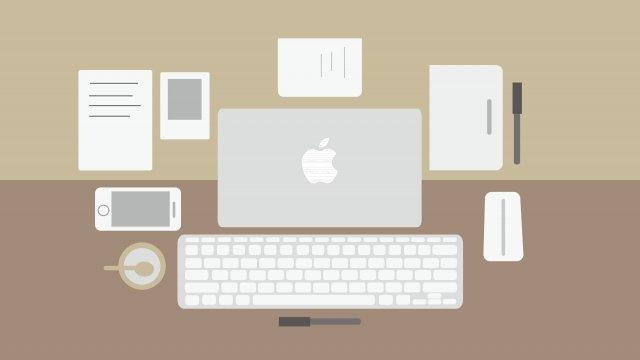 material de escritório de escritório de ilustração de negócios Material de ilustração Imagens de ilustração