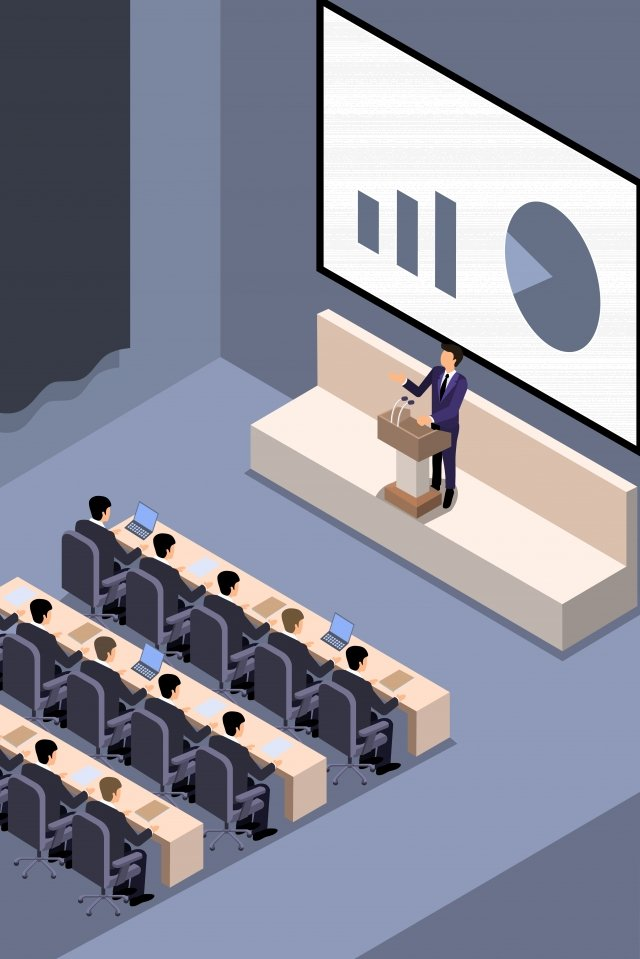 business meeting meeting speech, Speak, Computer, Notes illustration image