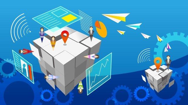 ビジネスオフィスの背景素材 イラスト素材