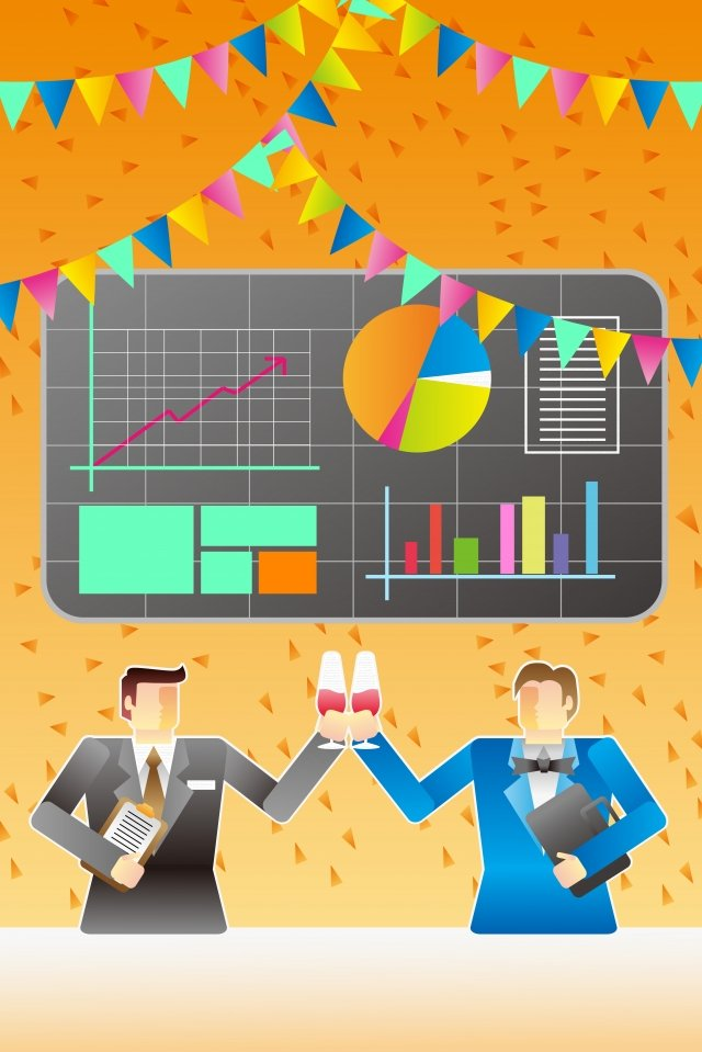 business office background material, Illustration, Cooperation, Win-win illustration image