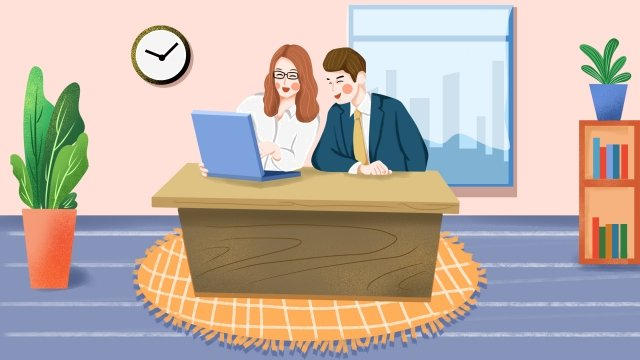 business office business cooperation cooperation go to work, Jobs, White Collar, Career illustration image