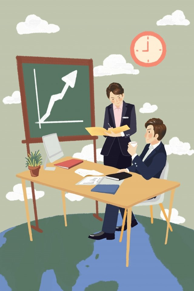 business office business cooperation team integrity, Jobs, Go To Work, White Collar illustration image