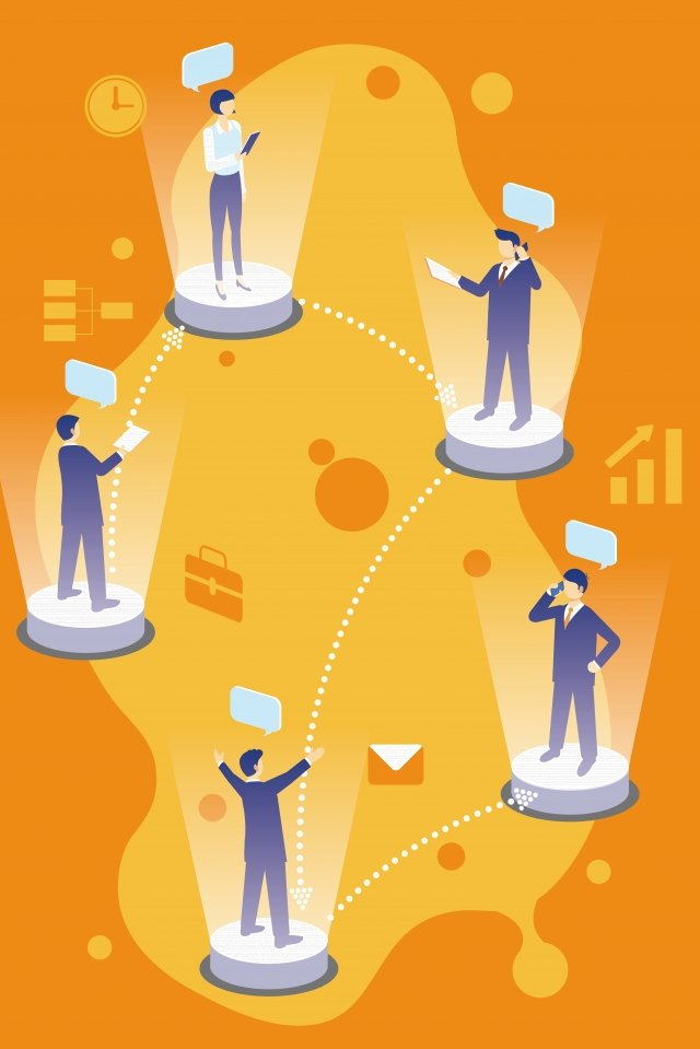 business office communication communicate with, Meeting, The Internet, Information illustration image