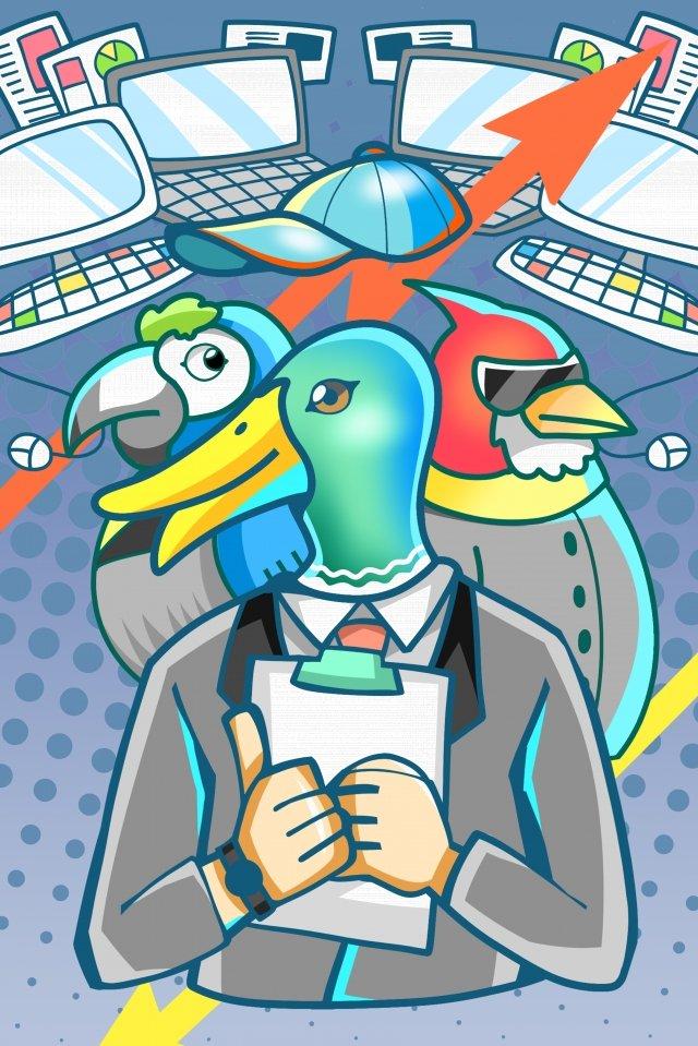 equipe de empregos de escritório de negócios Material de ilustração Imagens de ilustração