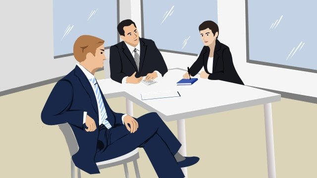 business office meeting cooperation, Team, Cartoon, Concise illustration image
