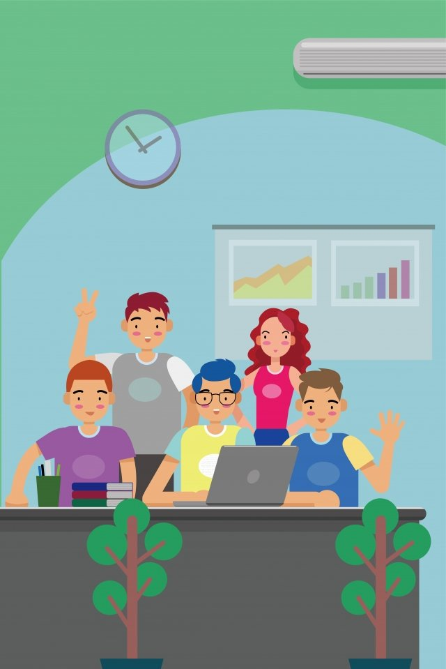 business office team cooperation, Integrity, Enterprise, Cheer illustration image