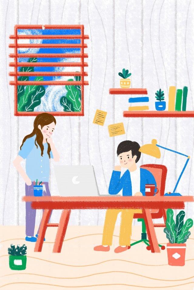 estúdio da cooperação da equipe do escritório de negócio Imagens de ilustração