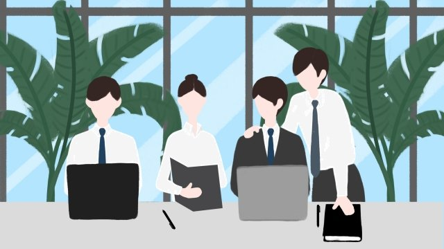 business office team cooperation white collar llustration image illustration image