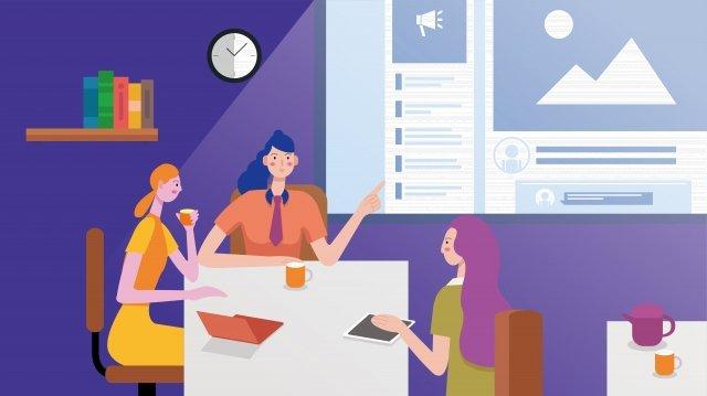 бизнес офис белый воротничок обсудить Ресурсы иллюстрации