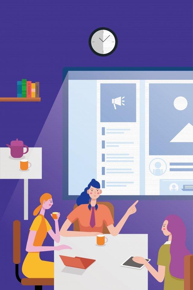 व्यापार कार्यालय सफेद कॉलर चर्चा चित्रण छवि चित्रण छवि