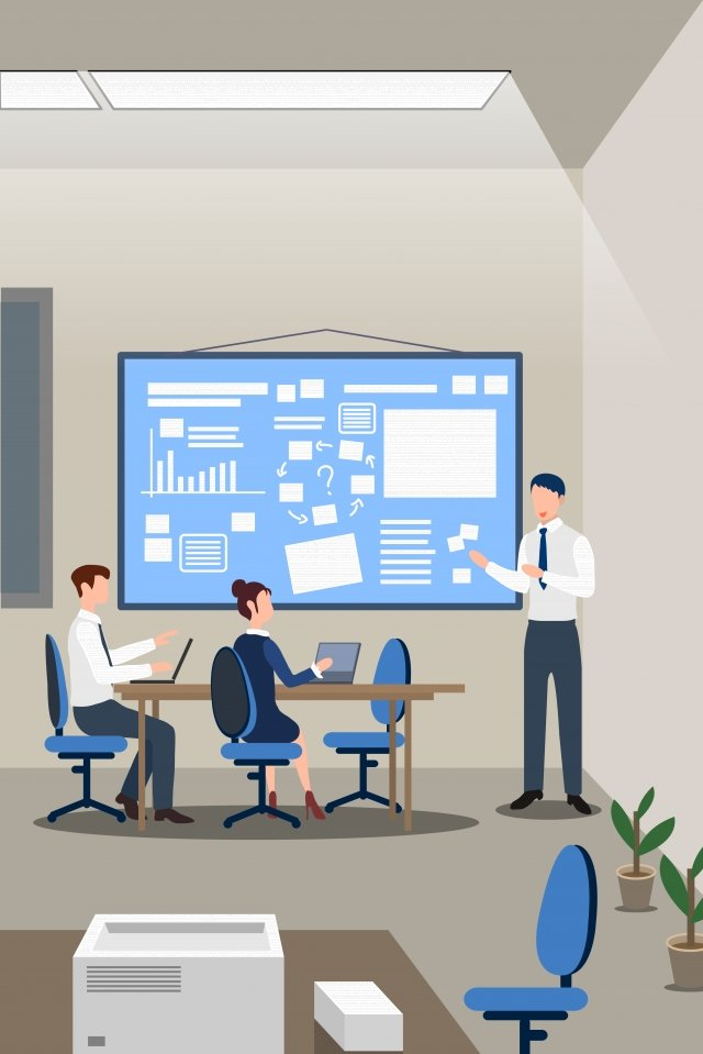 business office workplace meeting illustration image